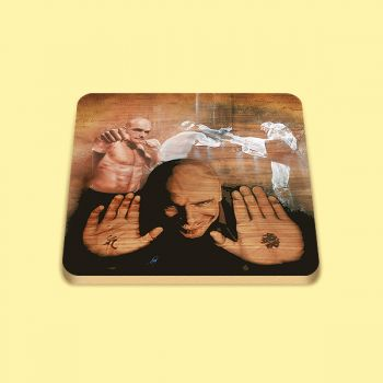 Bas Rutten Collectable Wooden Coaster Set