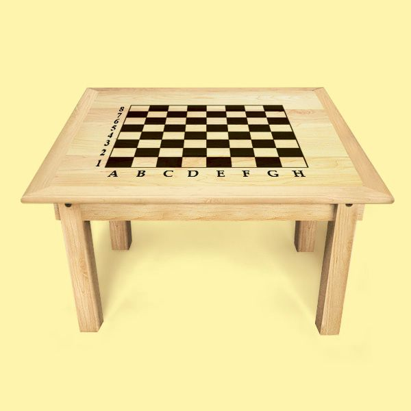 Custom Square Convertible Coffee Table With Chessboard